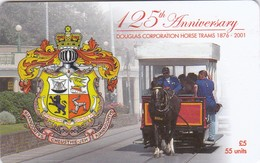 Isle Of Man, MAN 181, 125th Anniversary Douglas Corporation Horse Trams, 2 Scans. - Isla De Man