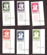Cambodge - 1956 - N° 52 à 62 - Coins De Feuille Datés - Neufs ** - Couronnement - Cote + 100 - Cambodia
