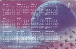 Isle Of Man, MAN 153, 2000 Calendar - The New Millennium, 2 Scans. - Isla De Man