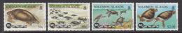 1997 Solomon Islands 50th Anniv South Pacific Commission Turtles Set Of 4 MNH - Salomon (Iles 1978-...)