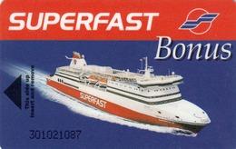 GREECE Cabin Keycard - SUPERFAST Bonus (Cruise Ship),used - Hotelkarten
