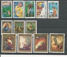 CENTRAFRIQUE  Scott 393-7, 430-2, C240-3 Yvert 395-9, 423-5, PA230-3 O (12) Cote 5,75 $ 1979-81 - Centrafricaine (République)