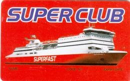 GREECE Cabin Keycard - SUPERFAST (Cruise Ship),sample - Hotelkarten