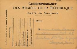 CPA - Themes - Militaria - France -  Correspondance Des Armées De La République - Militaria