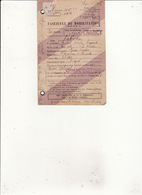 FASCICULE DE MOBILISATION NANCY  Valentin Robert Garde Forestier St Maurice Sur Moselle 15 Avril 1939 - Documents