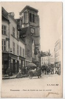 Tonnerre : Place Du Centre Un Jour De Marché - Tonnerre