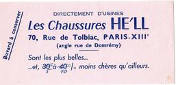 Buvard - Les CHAUSSURES HE'LL - Rue De Tolbiac PARIS XIII - Shoes