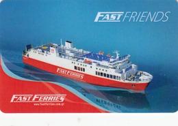 GREECE Cabin Keycard - Fast Ferries (Cruise Ship),sample - Hotelkarten