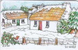 Isle Of Man, MAN 126, Christmas At Cregneash, 2 Scans. - Isla De Man