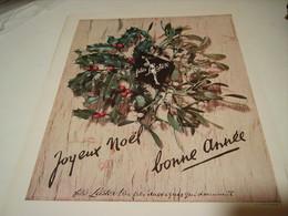 ANCIENNE AFFICHE PUBLICITE JOYEUX NOEL  FILES LASTEX 1950 - Vintage Clothes & Linen