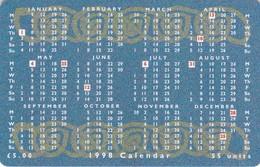 Isle Of Man, MAN 125, 1998 Calendar - Manx National Holidays, 2 Scans. - Isla De Man
