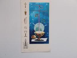 Devotieprent : Plechtige Communie, Jean^Pierre En Chantal LAVAERT Te Rumbeke 2 Juni 1968 - Communion