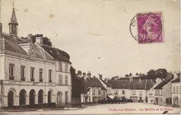 D02 - CHEZY SUR MARNE - LA MAIRIE ET LA PLACE - Diligences - Autres Communes