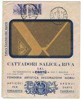 ZN66   Busta Pubblicitaria CATTADORI SALICE & RIVA - CANTU' - In Tariffa Fatt. Commerciale 1950 - 6. 1946-.. Repubblica