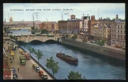 Dublín. *O'Connell Bridge And River Liffey* Circulada 1957. - Dublin