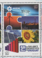 URUGUAY,2015, MNH, ENERGY, SOLAR ENERGY, WIND ENERGY, SUNFLOWERS, SOLAR PANELS,2v - Environment & Climate Protection
