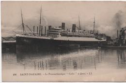 """Saint Nazaire/ Le Transatlantique """" CUBA"""" à Quai / Vers 1930                MAR79 - Paquebots"""