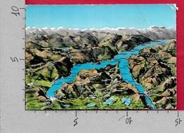 CARTOLINA VG ITALIA - Panorama Del LAGO DI COMO - Cartina - 10 X 15 - ANN. 1966 - Carte Geografiche