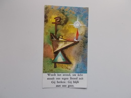 Devotieprent : Geloofsbeleidenis & Vormsel Jan LEYSSEN Te Boechout  11 - 28 Mei 1969 - Communion