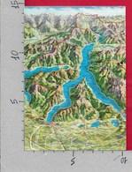 CARTOLINA NV ITALIA - Panorama Del LAGO DI COMO - Cartina - 10 X 15 - Carte Geografiche