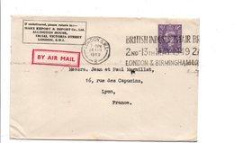 GB OBLITERATION MECANIQUE SUR LETTRE POUR LA FRANCE 1949 - Marcophilie