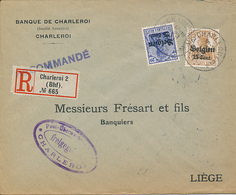 BELGIUM COVER FROM CHARLEROI TO LIEGE - Guerre 14-18