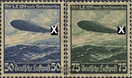 Deutsches Reich 606X-607X (completa Edizione) Usato 1936 Hindenburg Zeppelin - Germania