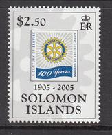 2005 Solomon Islands  100th Anniv Of Rotary International Set Of 1 MNH - Salomoninseln (Salomonen 1978-...)