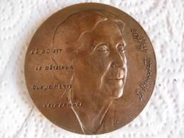 Médaille En Bronze 1978 Docteur Henriette Hoffer Par J.H. COEFFIN - France