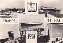 Carte 1960 LE PAQUEBOT FRANCE / INAUGURATION LE 11 MAI - Paquebots