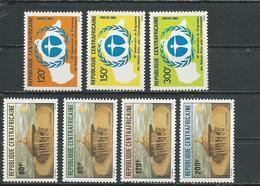 CENTRAFRIQUE  Scott 563-565, 566-569 Yvert 541-543, 544-547 ** (6) Cote 10,30 $ 1982 - Centrafricaine (République)
