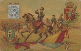 Histoire - Visite Officielle Roi D'Espagne Mai 1905 - Militaria  - Blason Drapeau - Réceptions