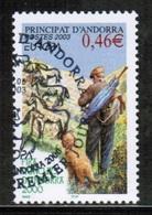 CEPT 2003 AD FR MI 601 ANDORRA FRANCE USED - Europa-CEPT