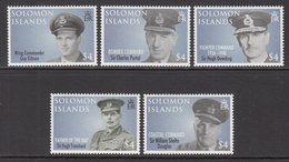 2008 Solomon Islands  90th Anniv Royal Air Force Major Contributors To The Service Set Of 5 MNH - Islas Salomón (1978-...)