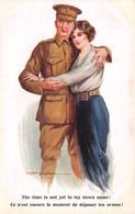 CPA Fantaisie - Illustrateur Fred SPURGIN - Couples - Militaire - Ce N'est Encore Le Moment De Déposer Les Armes! - Spurgin, Fred
