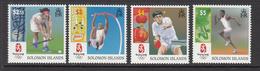 2008 Solomon Islands  Beijing Olympics Hockey, Pole Vault Table Tennis Runner Set Of 4 MNH - Solomon Islands (1978-...)
