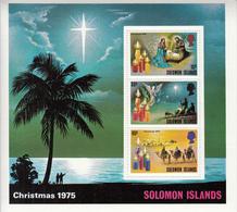 1975 Solomon Islands Christmas Star In The East Souvenir Sheet Of 3 MNH - Salomoninseln (Salomonen 1978-...)