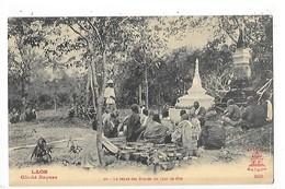LAOS -  Le Repas Des Bonzes Un Jour De Fête     ##  RARE  ##    -   L 1 - Laos