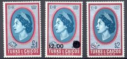 Iles Turks & Caicos - 1968 -> 1971 - Série Courante - Yt 212 ** - 236 * Charnière - 271 ** - Turks & Caicos (I. Turques Et Caïques)
