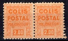 """France Colis Postaux """"timbre De Mise à Jour"""" Maury N° 165E En Paire Neufs (*). Rare! TB. A Saisir! - Mint/Hinged"""