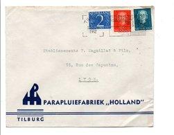 PAYS BAS AFFRANCHISSEMENT COMPOSE SUR LETTRE POUR LA FRANCE 1952 - Postal History