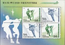 DPR Korea 1997 Sc. 3608b Pattinaggio Artistico Su Ghiaccio Sheet CTO - Pattinaggio Artistico