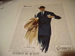ANCIENNE PUBLICITE VETEMENT DE QUALITE --DARBEL--EVERBEST  1950 - Habits & Linge D'époque