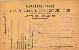 CPA - Themes - Militaria - France -  Correspondance Des Armée De La République - 1916 - Militaria