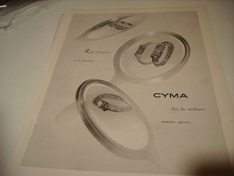 ANCIENNE PUBLICITE MONTRE  CYMA 1950 - Bijoux & Horlogerie
