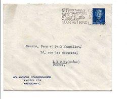 PAYS BAS OBLITERATION MECANIQUE SUR LETTRE POUR LA FRANCE 1949 - Postal History