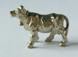 Metal Haustiere - Animaux Domestique : Kuh - Vache Chrom - Metal Figurines
