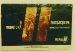 ROMANIA-CIGARETTES  CARD,NOT GOOD SHAPE-0.74 X 0.47 CM - Tabac (objets Liés)