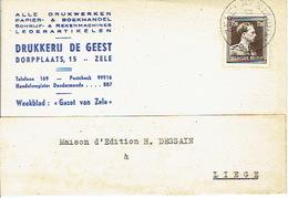 PK Publicitaire ZELE 1954 - DRUKKERIJ DE GEEST - Zele