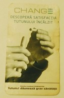 ROMANIA-CIGARETTES  CARD,NOT GOOD SHAPE-0.81 X 0.48 CM - Tobacco (related)